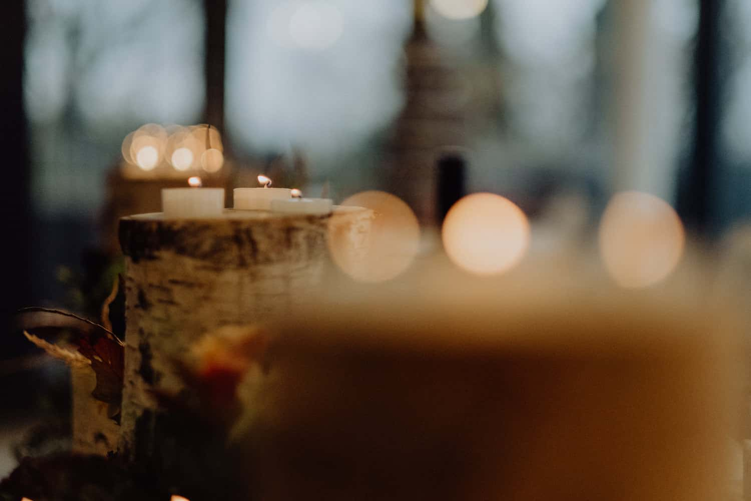 pretty shot of candles