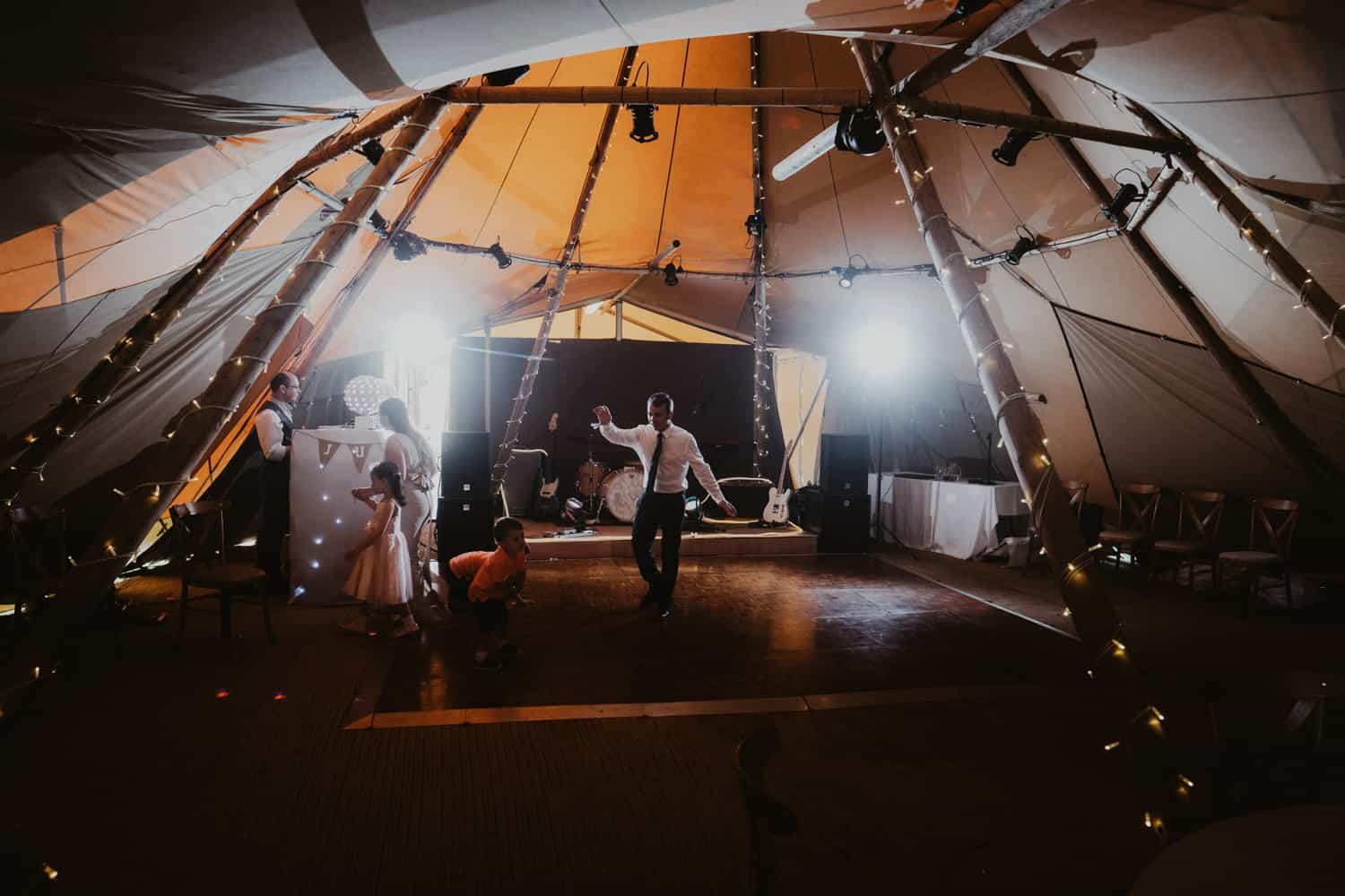 Rustic tipi wedding photography Lancashire | Ian MacMichael photography