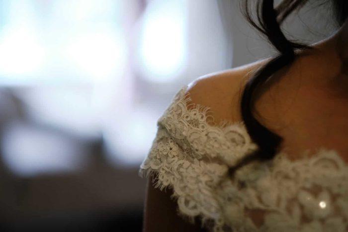beautiful wedding detauil shot