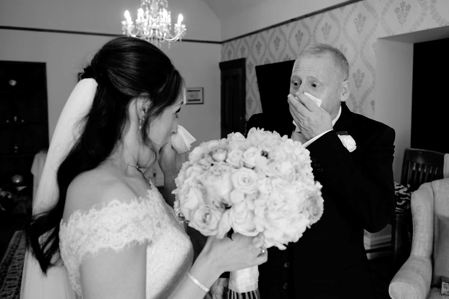 bride and dad rreaction